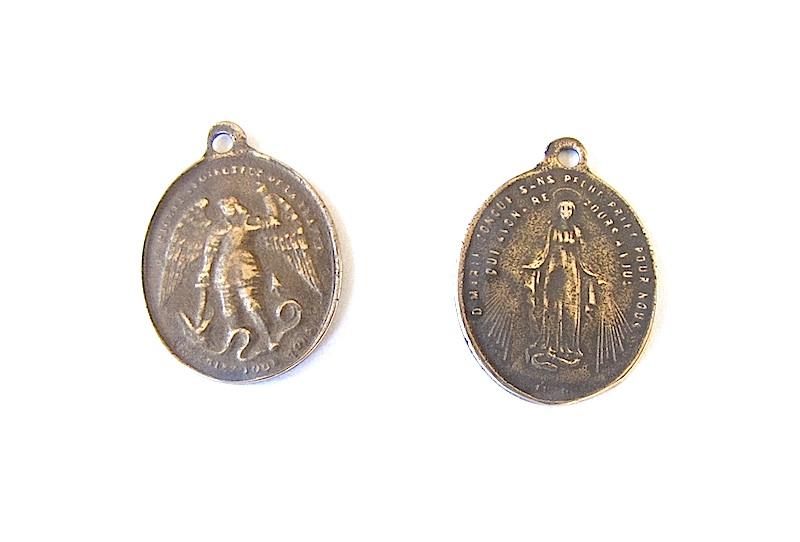 Bronze st michael medal