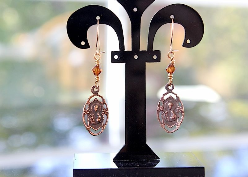 St joseph earrings