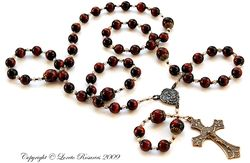 Red tiger eye rosary