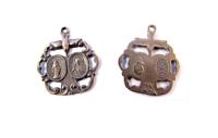 Bronze scapular medal