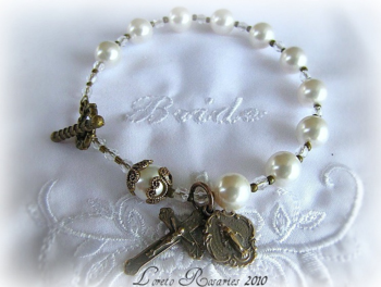 Wedding rosary bracelet
