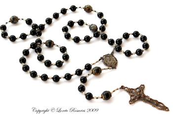 Black onyx rosary